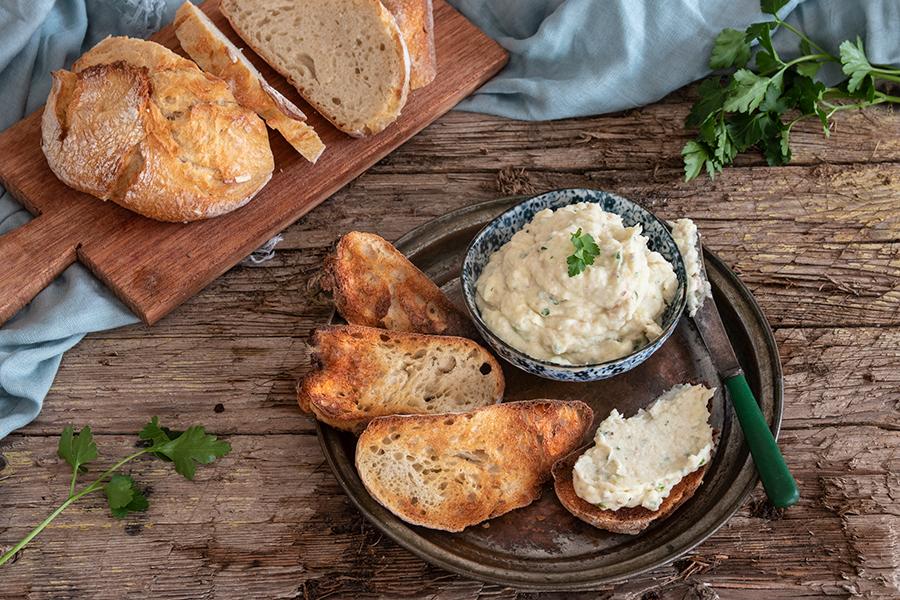 Patè di pesce spada affumicato e patate