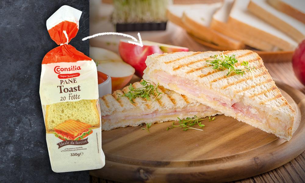 Nuova ricetta pane toast Consilia!