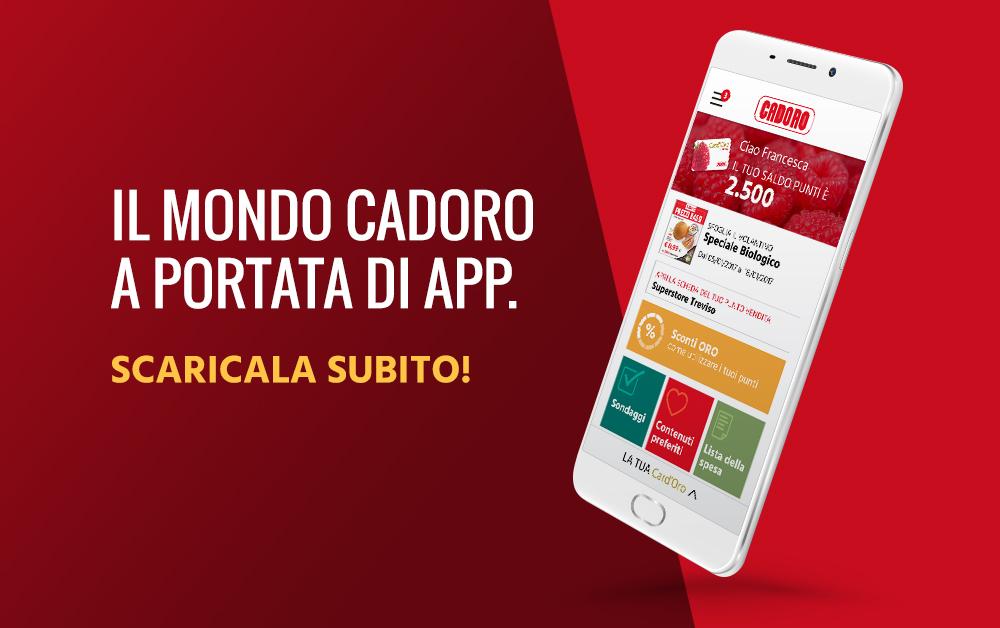 Il mondo Cadoro a portata di app