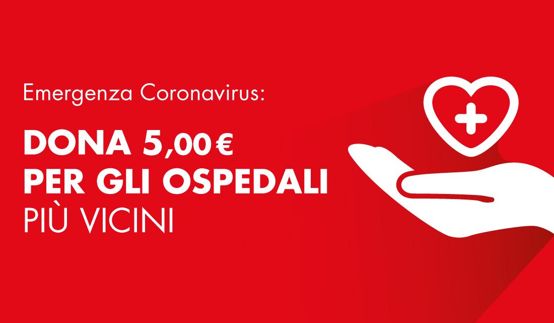 Emergenza Coronavirus: dona i tuoi punti per gli ospedali più vicini
